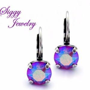 Swarovski Crystal Siam Shimmer Earrings